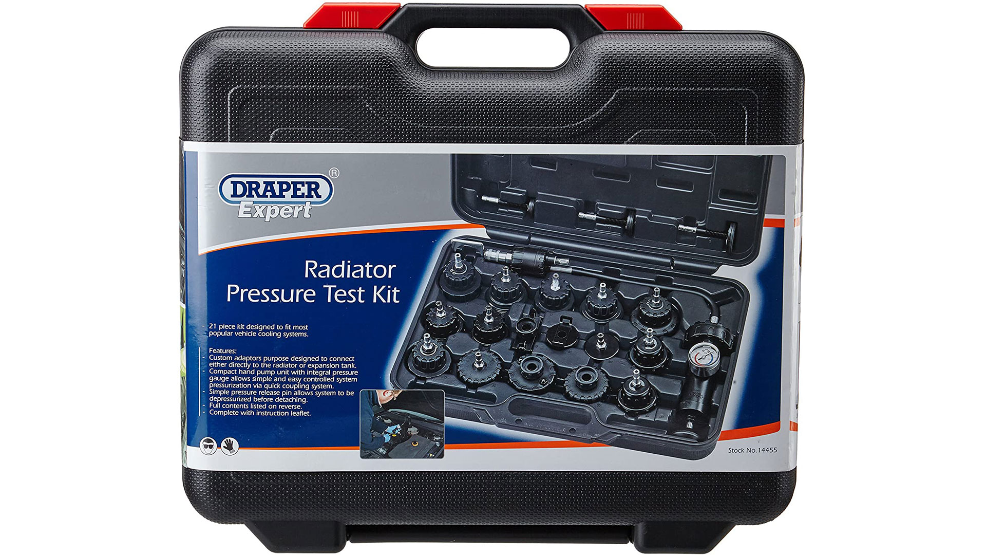 draper radiator pressure test kit