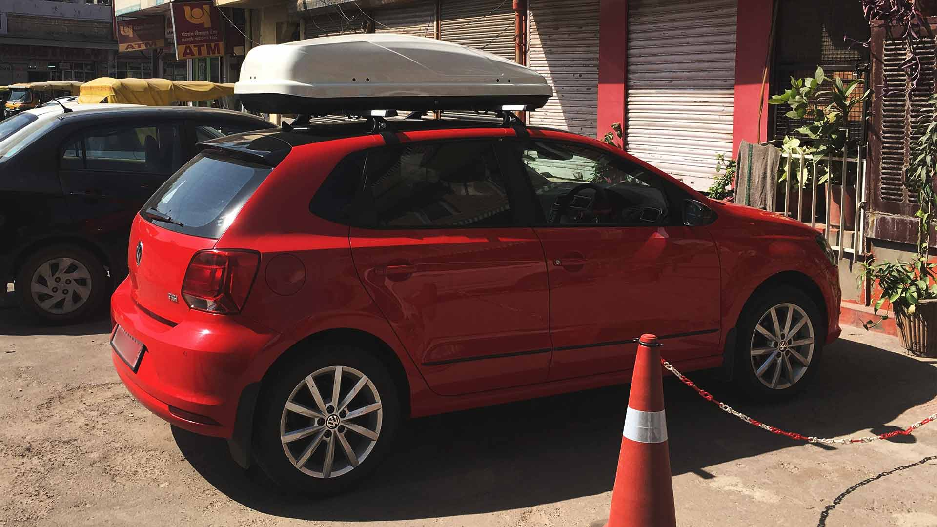volkswagen polo roof box