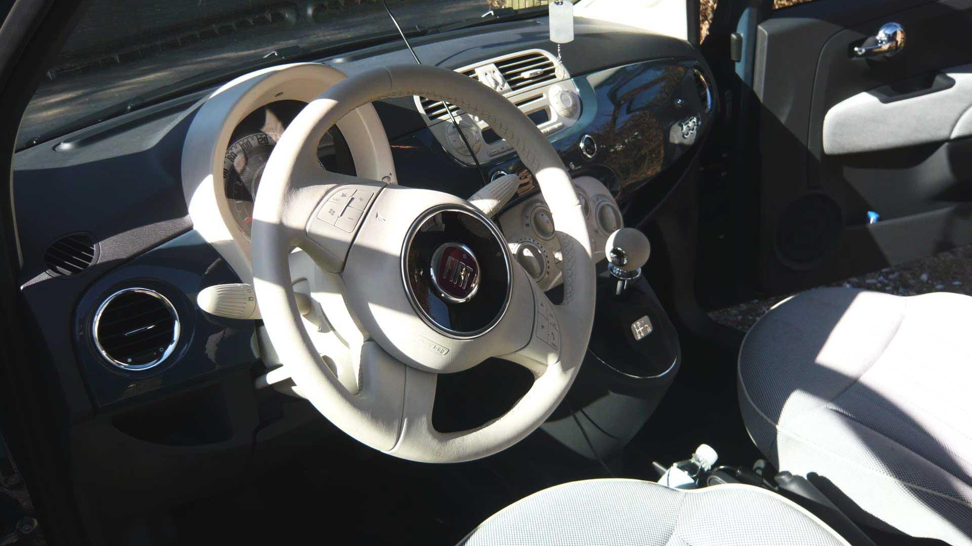 fiat 500 steering wheel lock