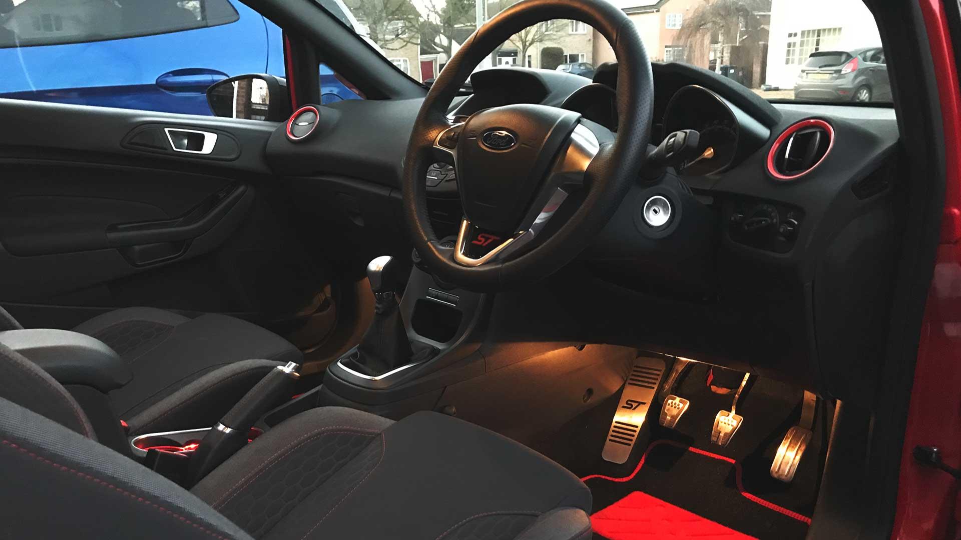ford fiesta steering wheel lock